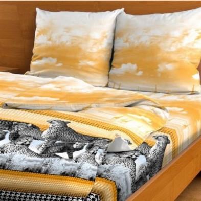 Простыня Гепарды (желтый)